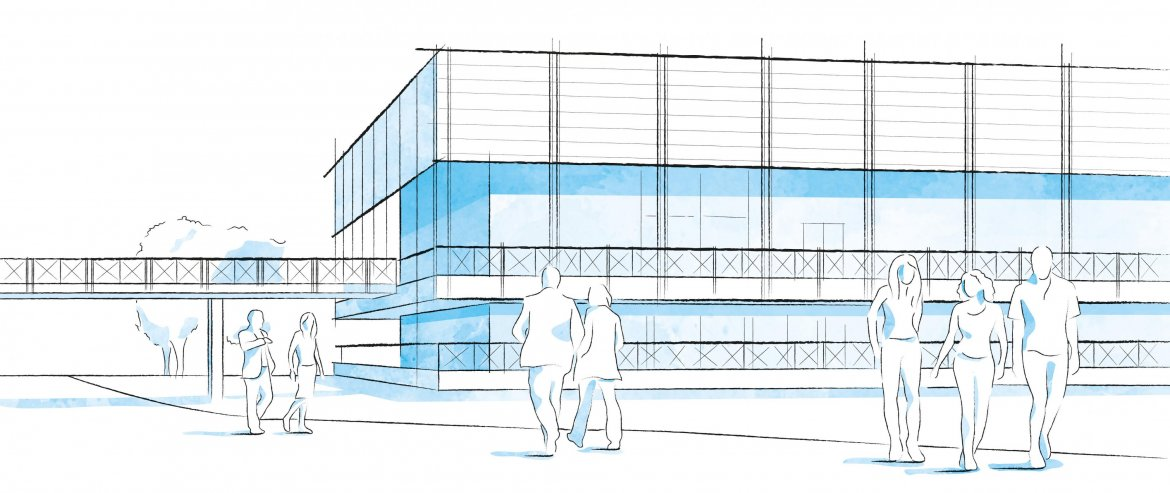 Campus illustration