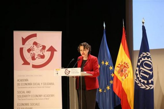The Minister of Labour, Migration and Social Security of the Government of Spain opens an ITCILO activity