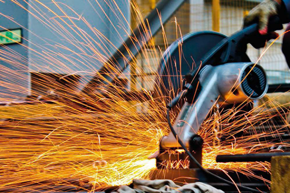 A man using a welding torch