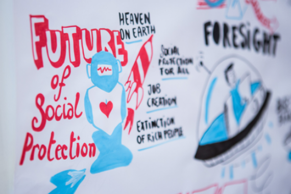 Future of social protection sign